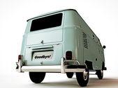Pożegnanie płyta samochód van — Zdjęcie stockowe