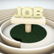 Job labyrinth — Stock Photo