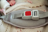 Safety belt for newborn — Stock Photo