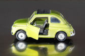 Model car vintage, green, scale 1/24 — Stock Photo