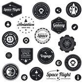 Uzay seyahat rozetleri — Stok Vektör