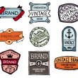 Drawn vintage badges — 图库矢量图片