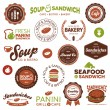 Stock Vector: Sandwich bistro labels
