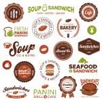 sandwich bistro etiketten — Stockvector