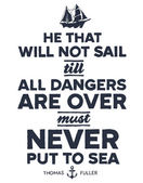 Vintage nautical illustration — Stock Vector