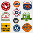 Vintage retro gas signs - Imagen vectorial