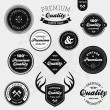 Retro labels - Image vectorielle