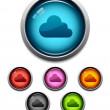 Royalty-Free Stock Vector Image: Cloud button icon