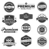 Premium quality labels — 图库矢量图片