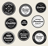 Vintage premium quality badges — Stock Vector