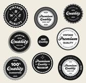 Vintage premium quality badges — Stock Vector