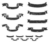 Grunge scrolls — Stock Vector