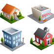Building illustrations - Stock Vector