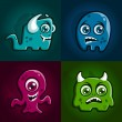 Stock Vector: Monster characters