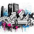 City graffiti background — Stock Vector