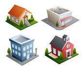 Edificio ilustraciones — Vector de stock