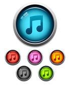 Music button icon — Stock Vector