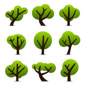 Simple tree icons — Stock Vector