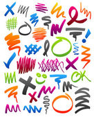 Marker scribbles — Stock Vector