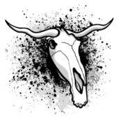 Longhorn paint splatter — Stock Vector