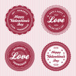 Valentine love labels — Vettoriali Stock