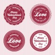 Valentine love labels - Image vectorielle