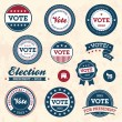 Vintage election badges - Stok Vektr
