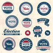 Distintivi di elezione d'epoca — Vettoriale Stock