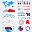 Election infographic design elements - Stockvektor