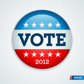 Election campaign button 2012 — Vector de stock