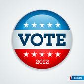 Pulsante di campagna elettorale 2012 — Vettoriale Stock