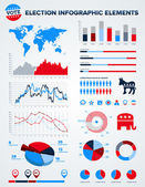 Election infographic design elements — Vettoriale Stock