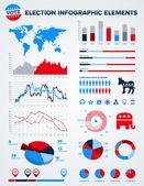 Elementi di design infografico elezione — Vettoriale Stock