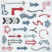 Sketchy arrows — Stock Vector