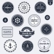 Vintage nautical labels — Stok Vektör