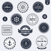 Vintage nautical labels — ストックベクタ