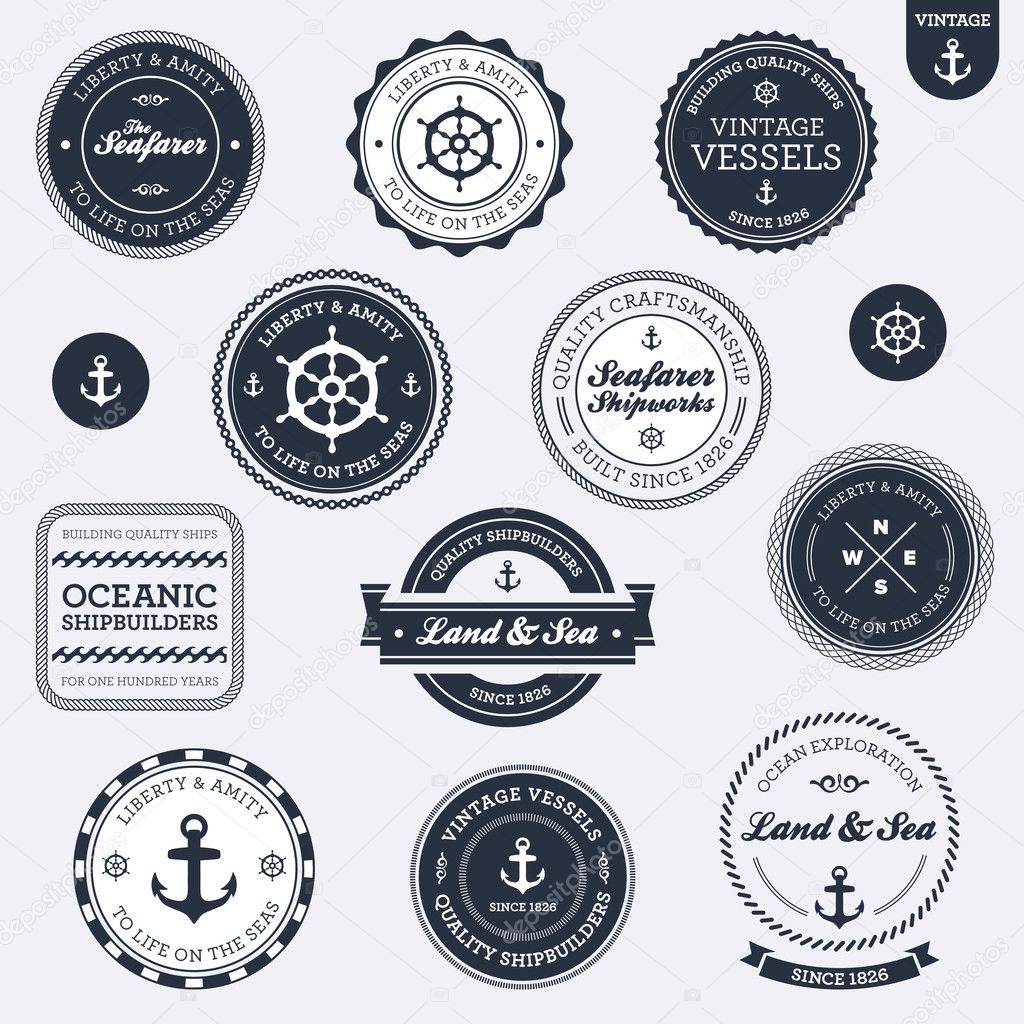 Excellent Nautical Vintage Vector Logos Free 1024 x 1024 · 341 kB · jpeg