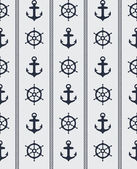 Seamless nautical pattern — Stock Vector