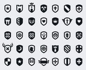 Shield icons — Wektor stockowy