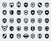 Sköld ikoner — Stockvektor