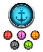 Anchor button icon — Stock Vector