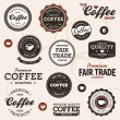 Vintage coffee labels - 图库矢量图片