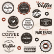Vintage coffee labels - Stockvectorbeeld