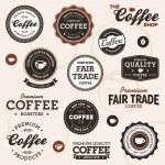 Урожай кофе этикетки — Cтоковый вектор
