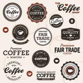 étiquettes vintage café — Vecteur