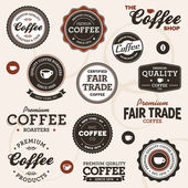 Vintage coffee labels — Stock Vector