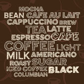 Coffee text elements — Vector de stock
