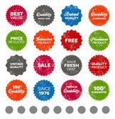 Simple vintage badges — Stock Vector