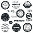 Drawn vintage badges — Stock vektor