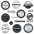 Stock Vector: Drawn vintage badges